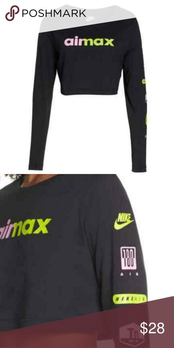 Nike air max, Loose fit crop top, Crop tops