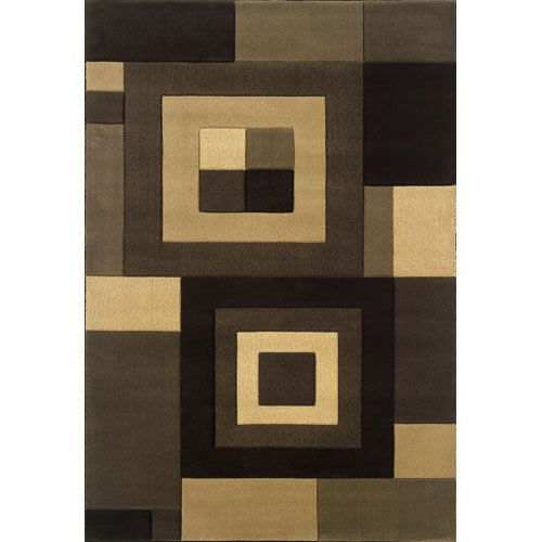 Tones Brown Rectangle: 7 ft. 10 in. x 11 ft. 2 in. Rug - (In Rectangle)
