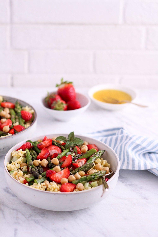 Hirse spargel salat