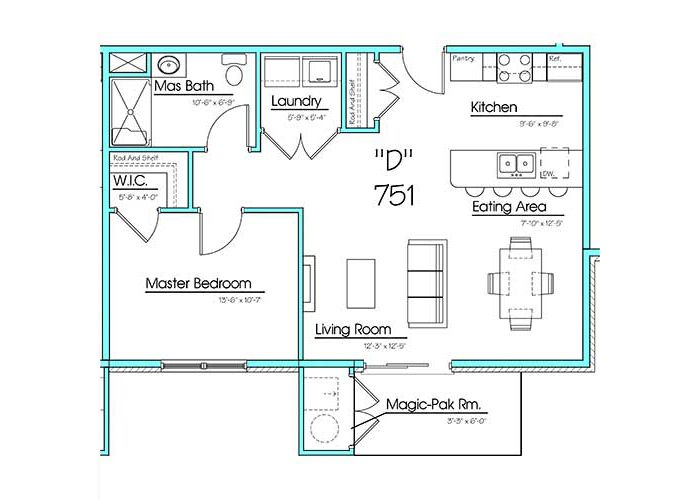 Bedroom With Laundry Room Plan Kitchen Floor Plans Room Planning House Plans