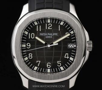 Patek Philippe Stainless Steel Black Dial Jumbo Aquanaut B&P 5167A-001