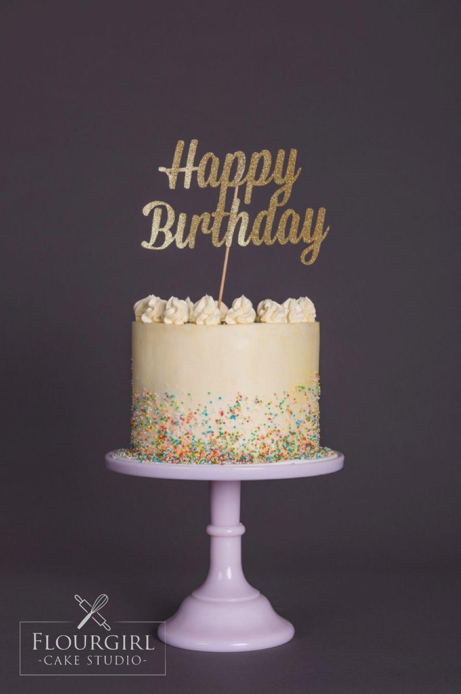 Traditional Buttercream Birthday Cake Sprinkle Buttercream Cake