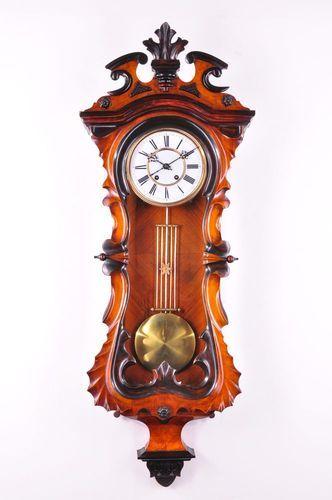 Fantastic Antique Carl Wertner Pendulum Wall Clock Approx 1890 Fancy Clock Clock Pendulum Wall Clock
