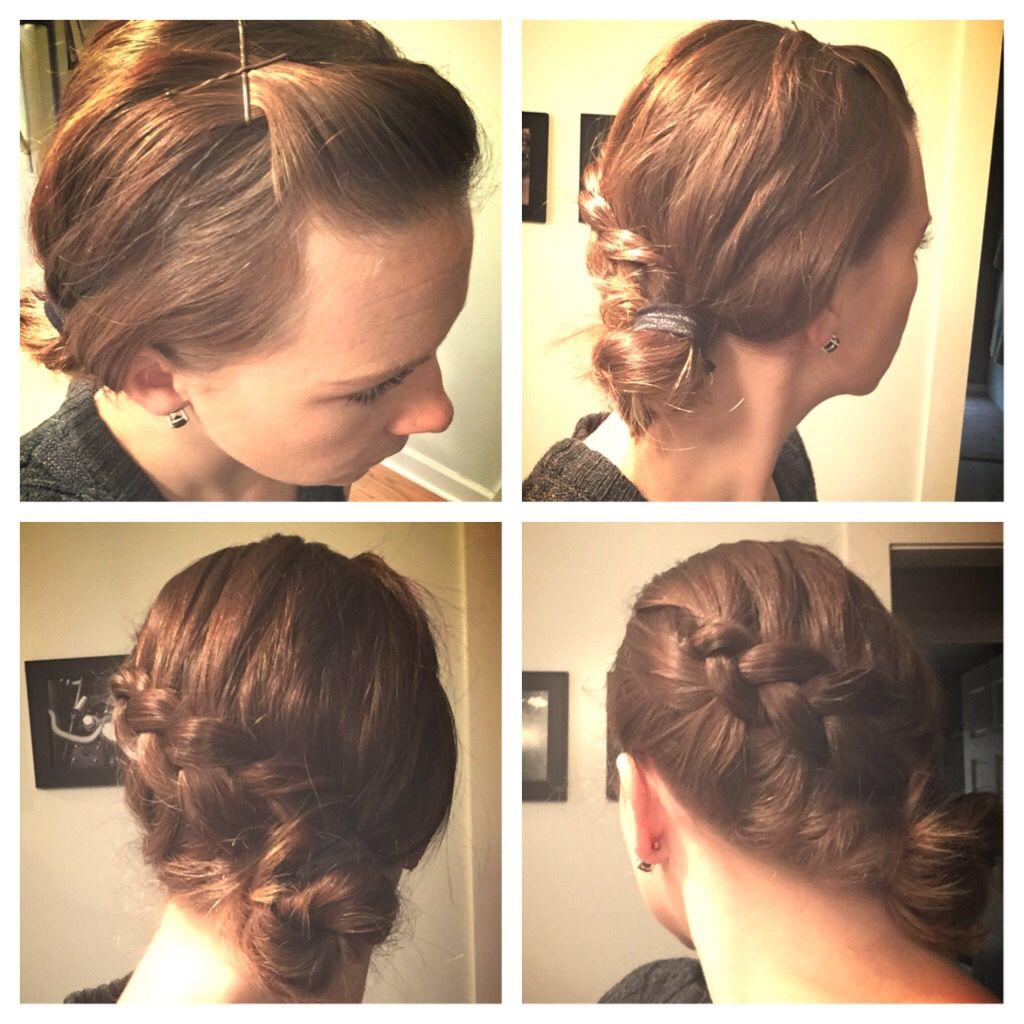 Outtie braid to bun