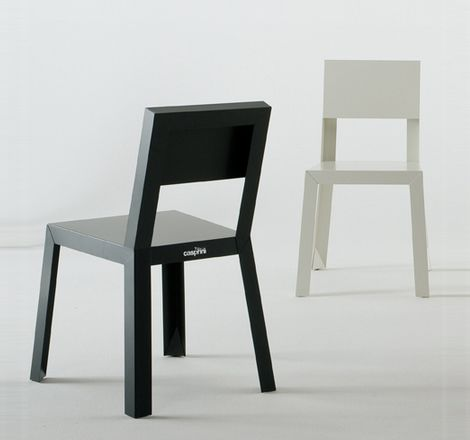 Steel Chair Design: Sheet Metal Chairs In Galvanized Steel For Indoors And  Outdoors, By