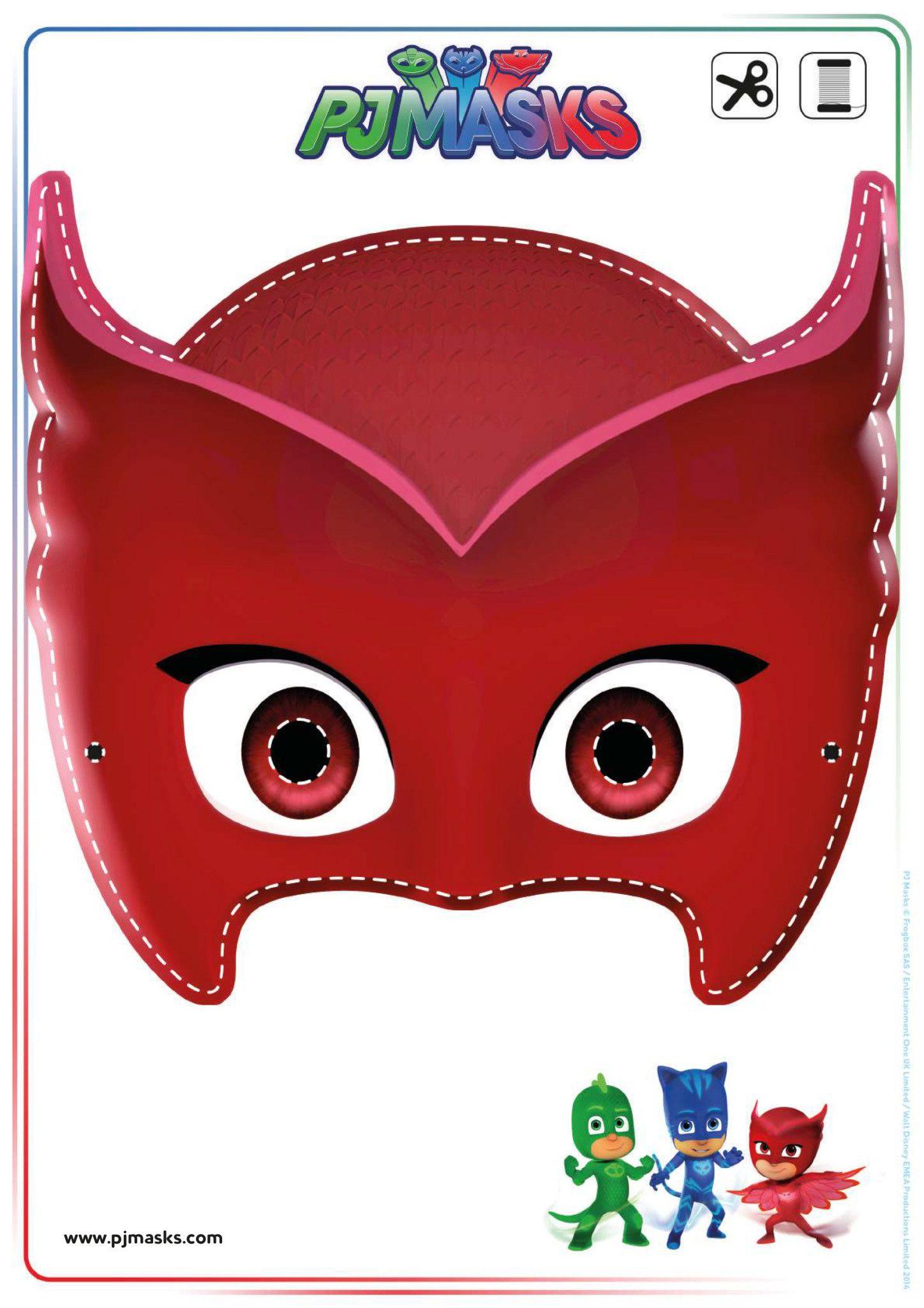 Printables - PJ Masks Owlette, Gekko, & Catboy Masks ...