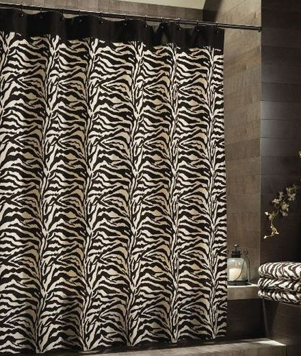 black and white zebra shower curtains target