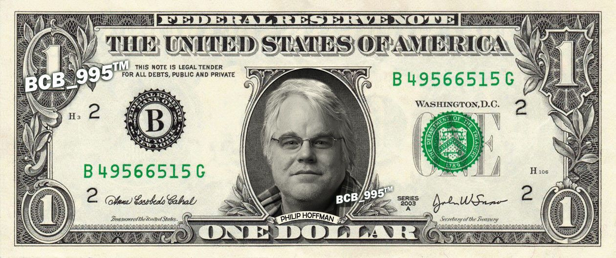 PHILLIP HOFFMAN on a Dollar Bill