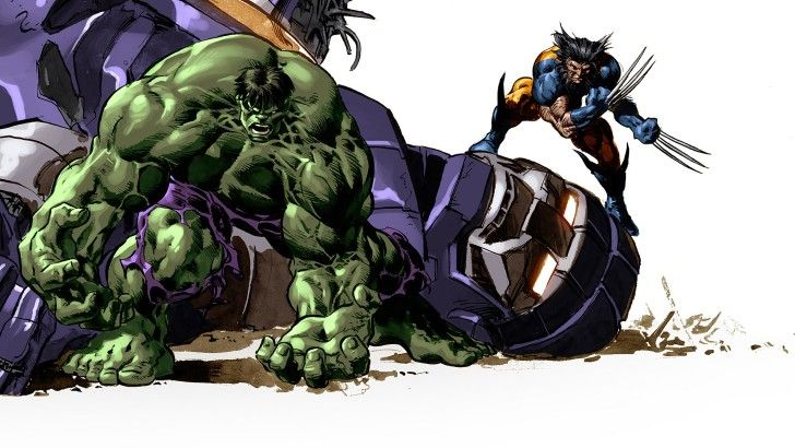 Hulk And Wolverine Marvel Comics Wallpaper