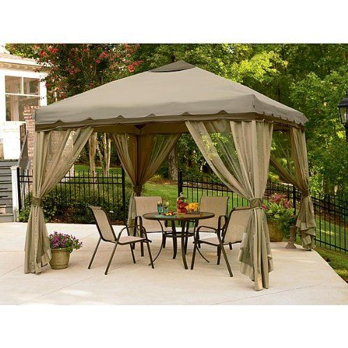 10 X 10 Portable Pop Up Gazebo Canopy With Mosquito Netting Canopy Tent Outdoor Patio Gazebo Backyard Gazebo