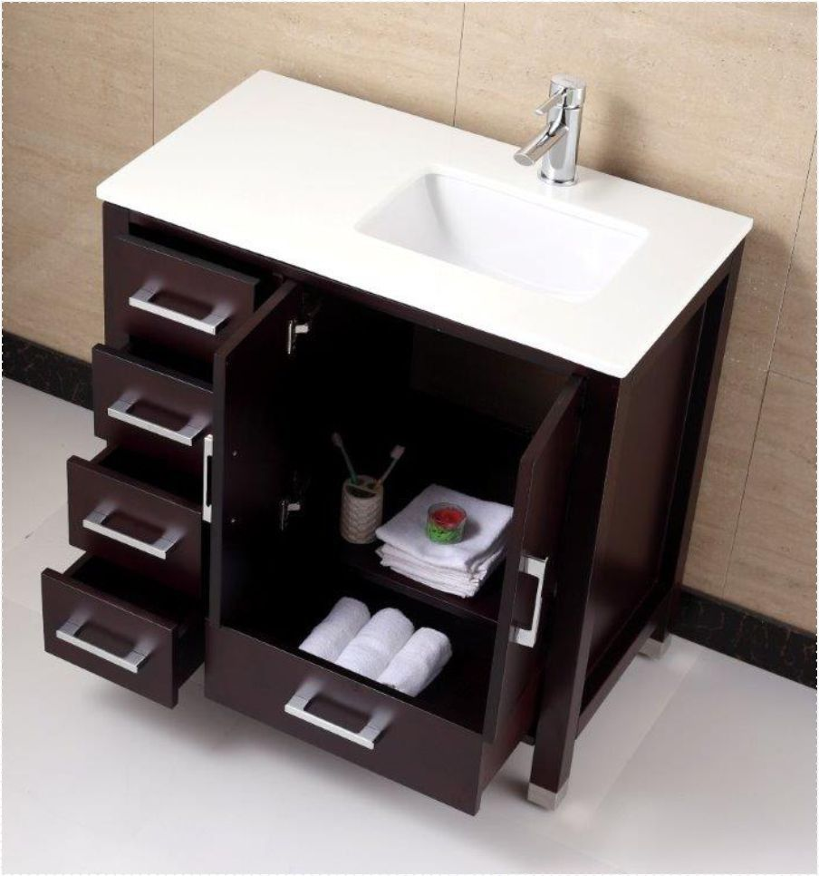 Photographic Gallery Anziano Espresso Bathroom Vanity w Quartz Top Left The Bathroom Vanity Store Canada