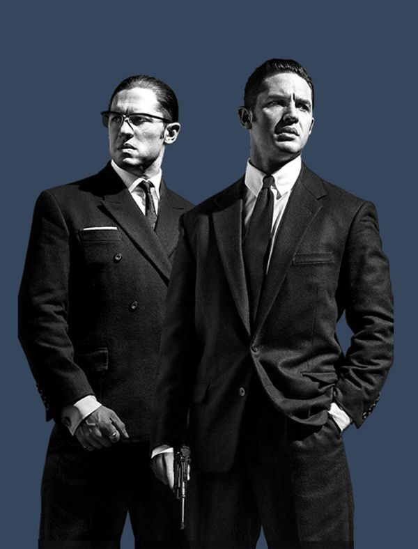 Legend - Ronne and Reggie Kray both portrayed by Tom Hardy #GangsterMovie #GangsterFlick