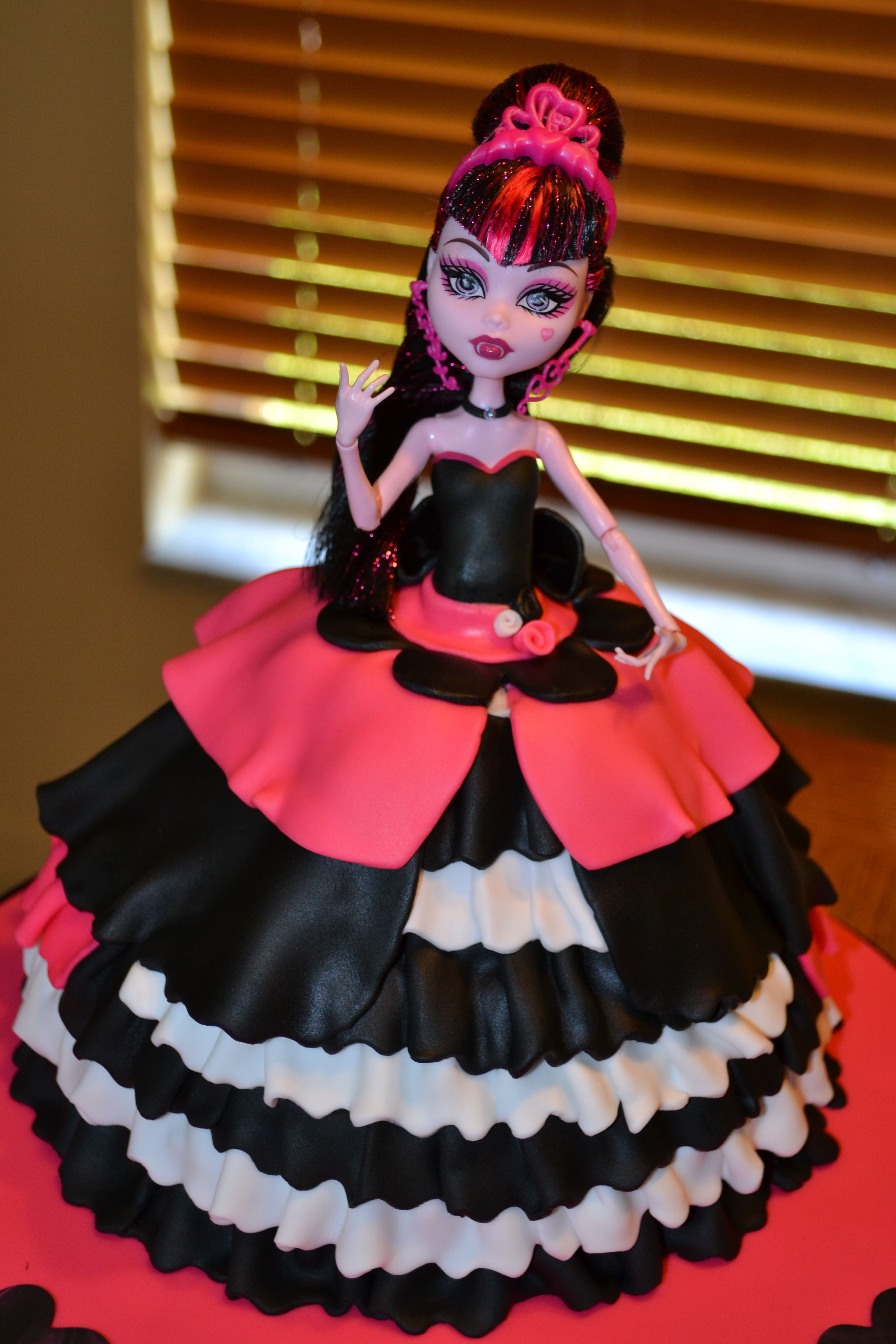 Fabulous Monster High Doll Cake Kenzie Wants One For Her Birthday With Personalised Birthday Cards Sponlily Jamesorg