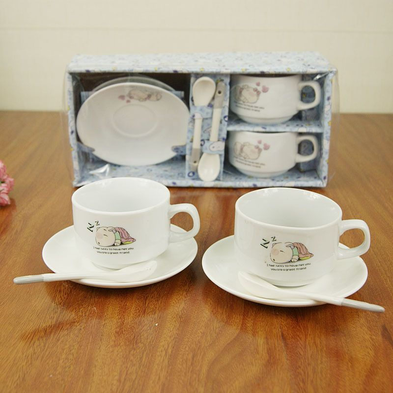 Two cups of two disc two teaspoons of sets of cups, senior
