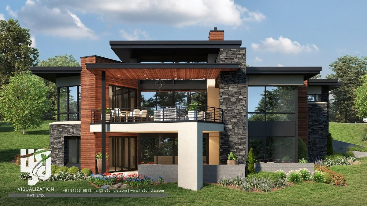 The Wow Factor Of Modern House Designs In Usa Homes Have Amazing Style In Architecture Ny Usa Modern House Design Facade Design Modern House