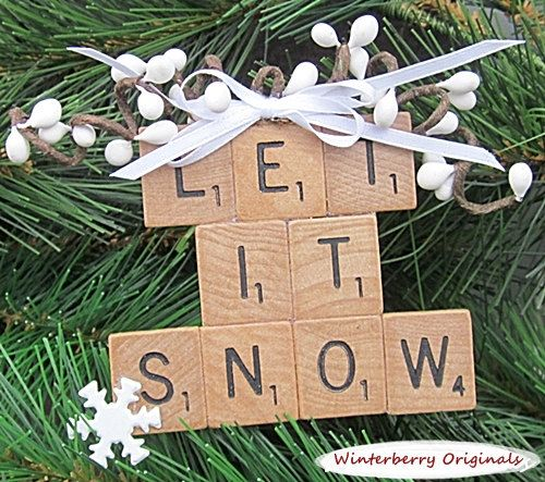 Personalized Scrabble Ornament Package by WinterberryOriginals