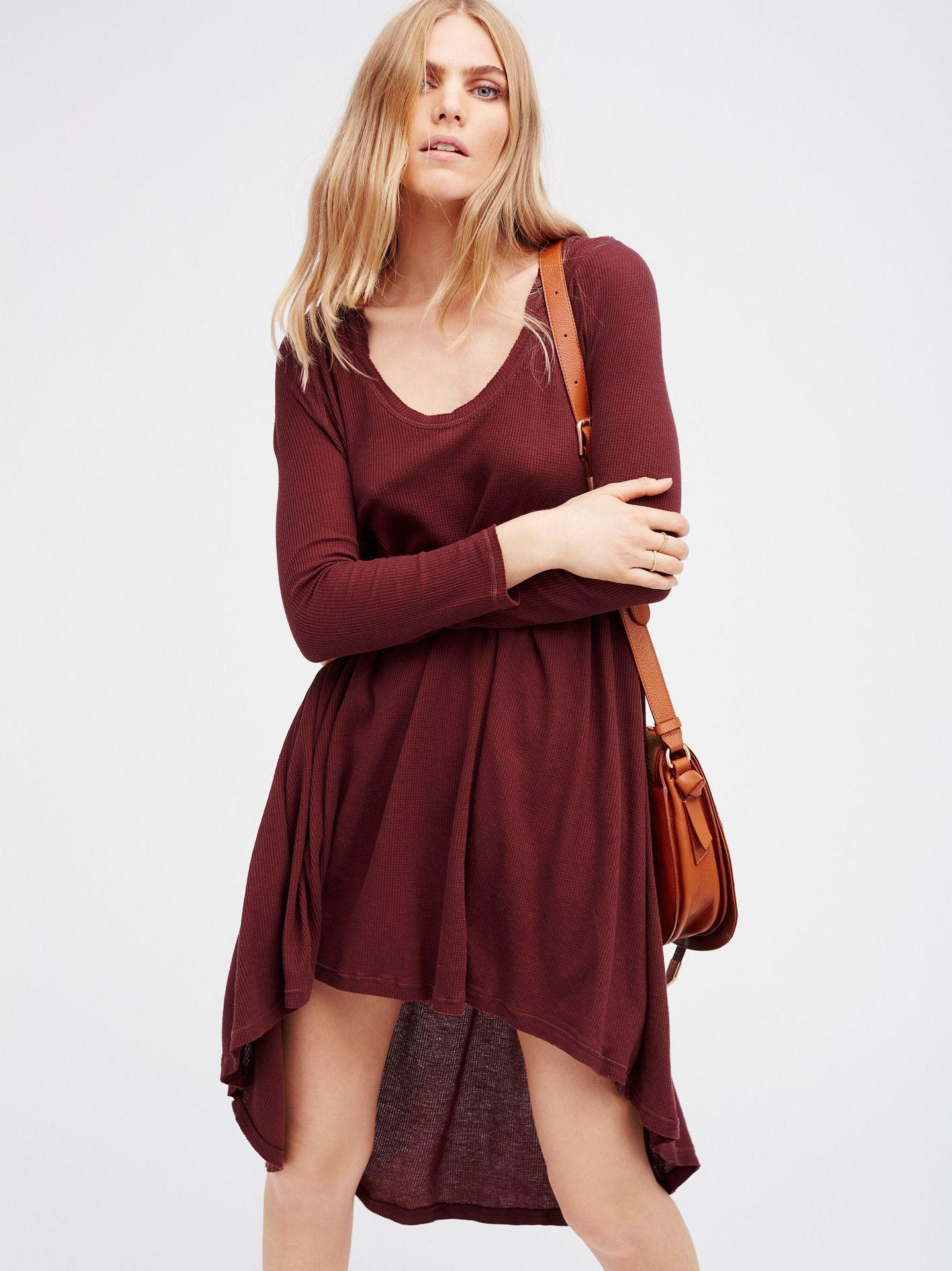 Click to buy ucuc womenus new knit cotton dress hooded fashion