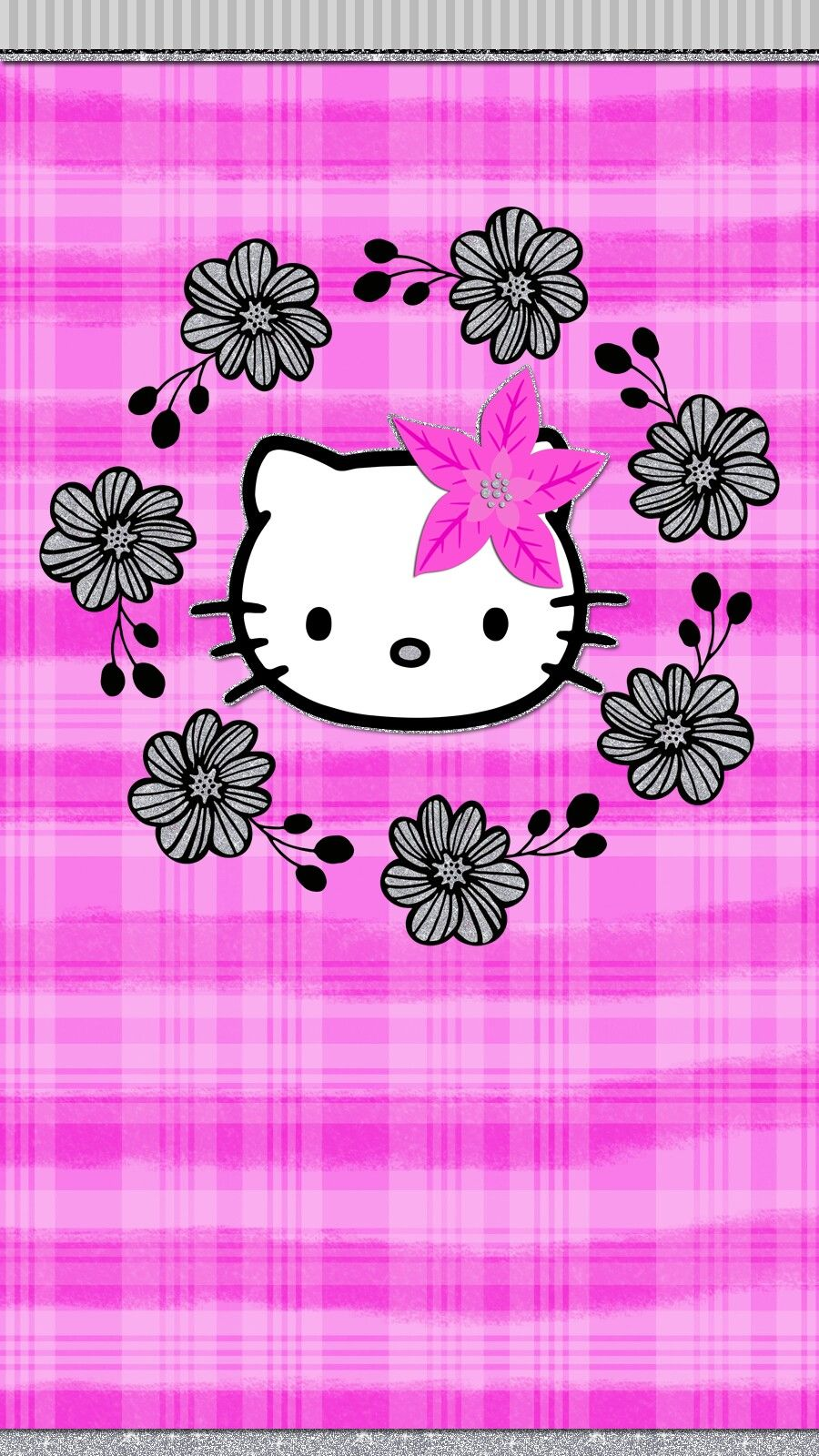 pink christmas wallpaper iphone android hello_kitty