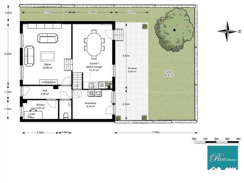 Linkebeek - Maison 3 façades rénové 180m², 4 ch, jardin SUD