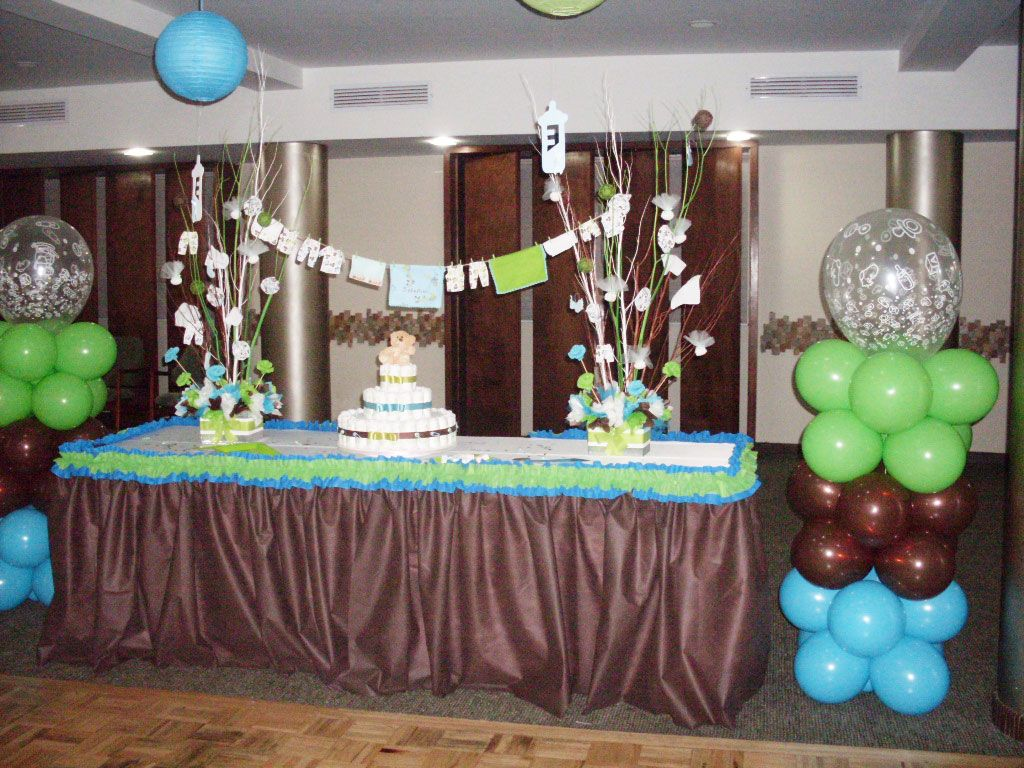 Moms angels decoracion baby shower para ni o baby - Baby shower decoracion ...