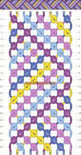 Resultado de imagen para patrones de manillas en micromacrame anchas de 40 hilos