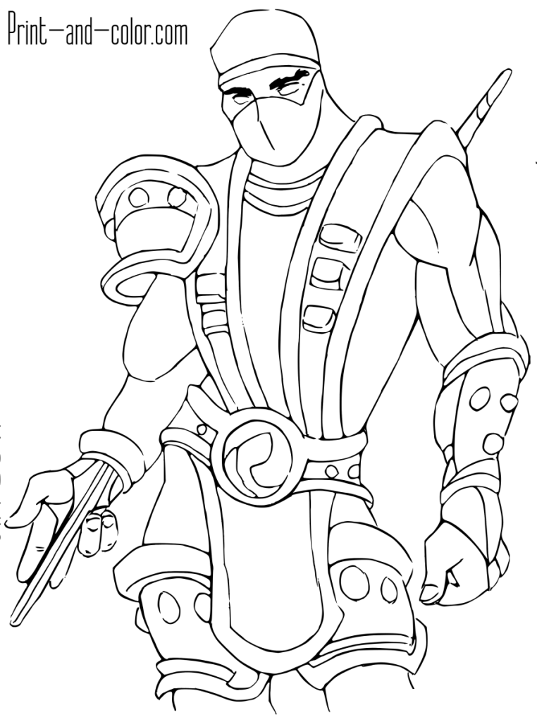 Mortal Kombat coloring page Scorpion Coloring pages