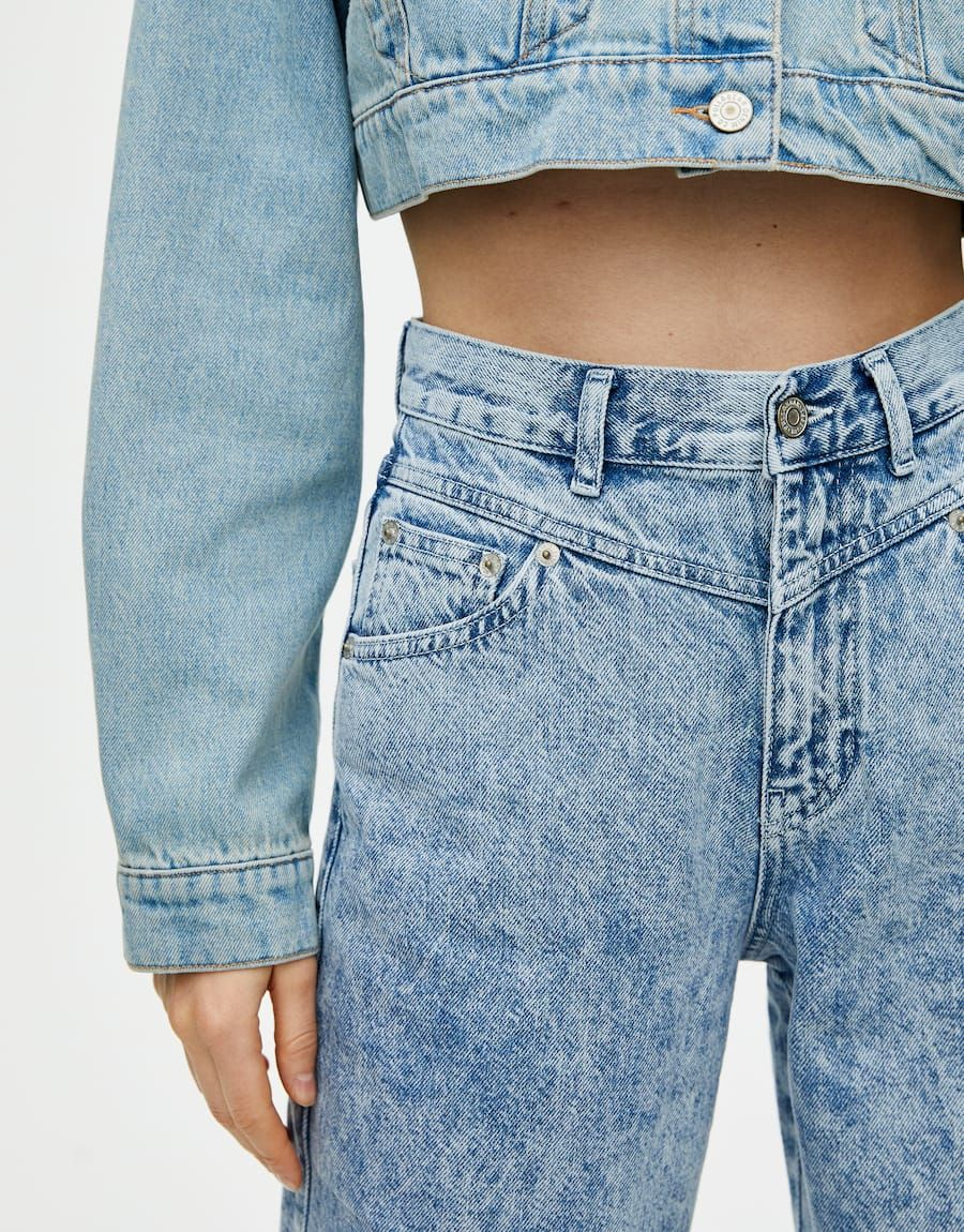 3fe355831 Jeans gaucho canesú bolsillos en 2019 | ss.19 | Jeans, Bolsillos y Ropa