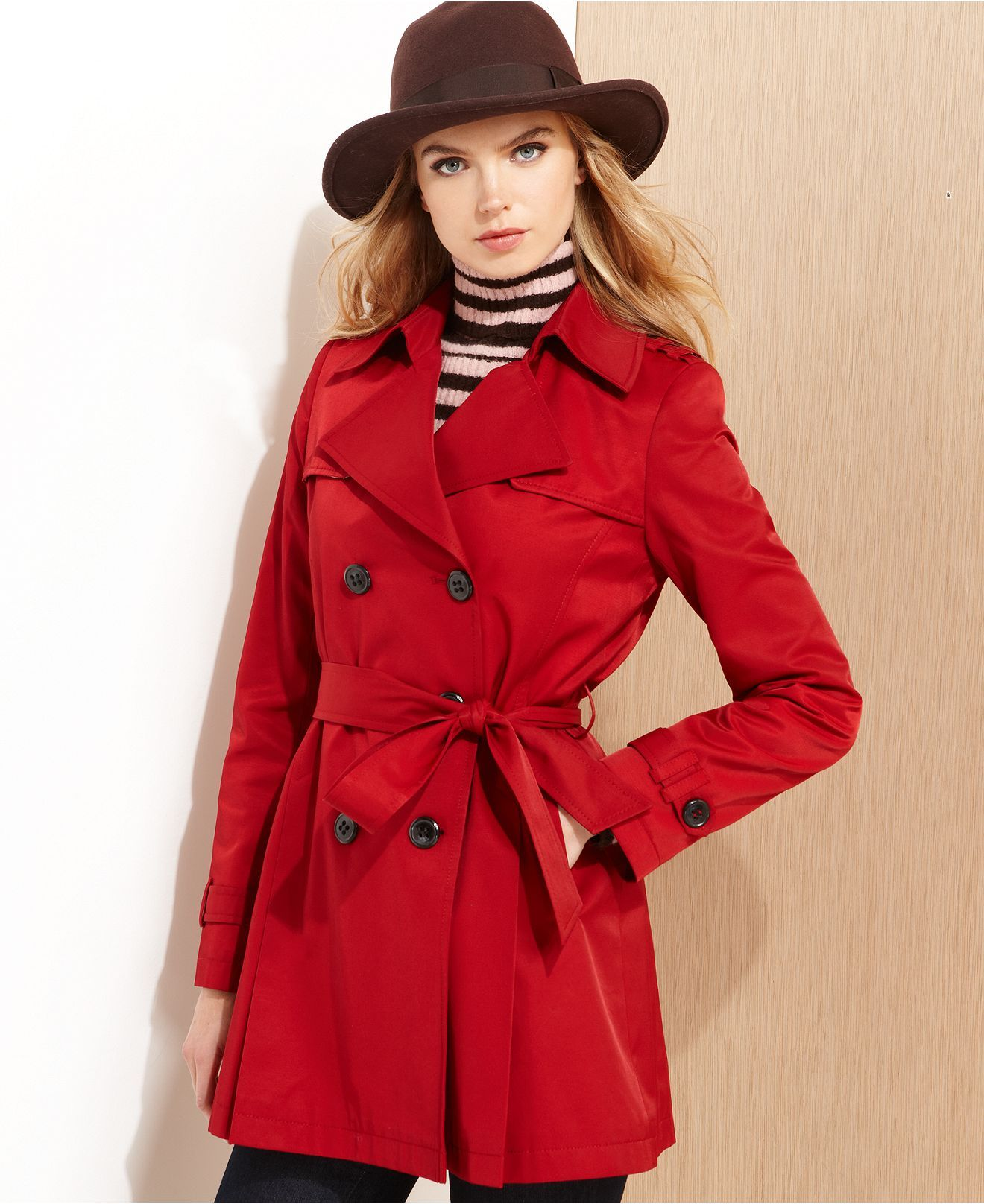 DKNY Raincoat, Cropped Trench Coat - Womens Coats - Macy's. Want this in  Navy - DKNY Raincoat, Cropped Trench Coat - Womens Coats - Macy's. Want