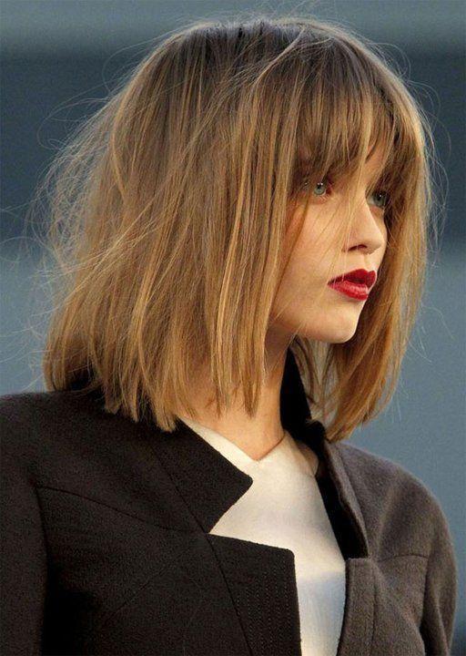 Włosy Do Ramion Z Grzywką Propozycje Fryzur Fryzura Hair Cuts