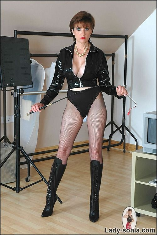 latex tights lady sonia