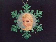 Disney Frozen Elsa #1 Blue Snowflake Ornament Handmade