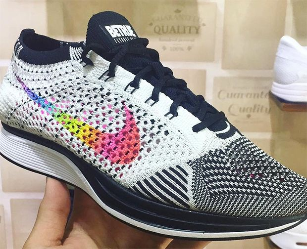7ecfb07254a4 A first preview of the rainbow-colored Nike Flyknit Racer for the Be True  collection supporting the LGBT community.