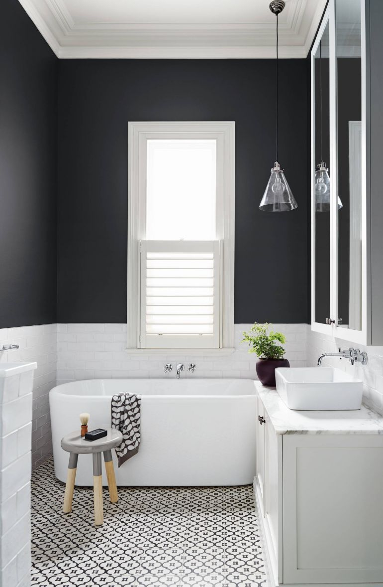 25 Elegant and Timeless Black and White Bathroom Design Ideas ...