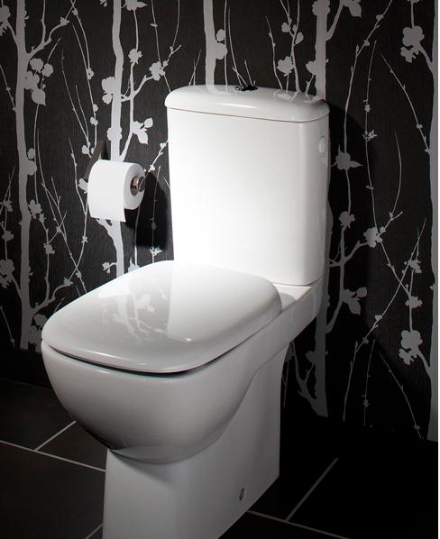 La déco des WC noir et blanc, osez c\'est chic !