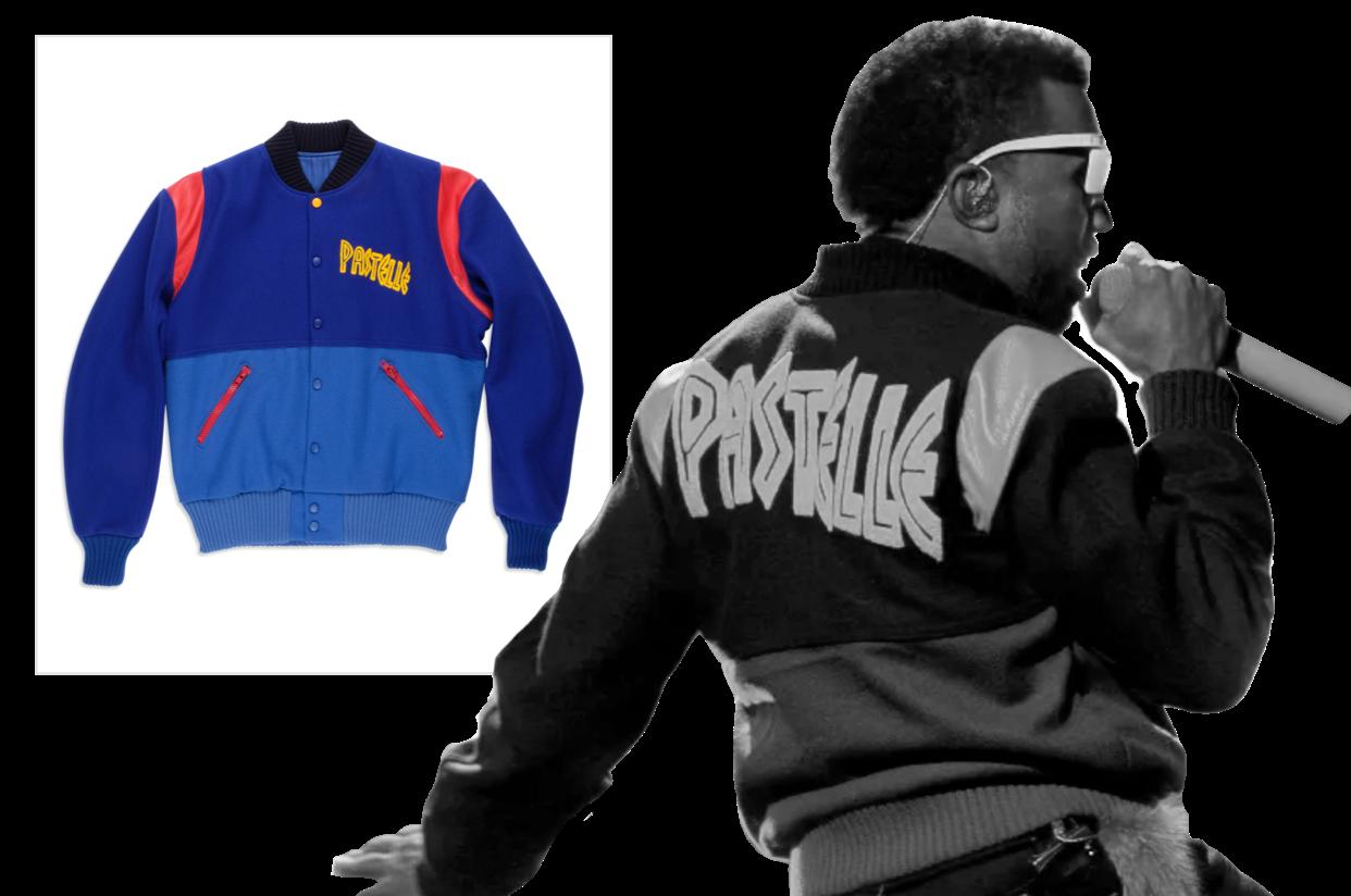 Kanye West Pastelle Varsity Jacket Kanye West Varsity Jacket Fleece Jacket
