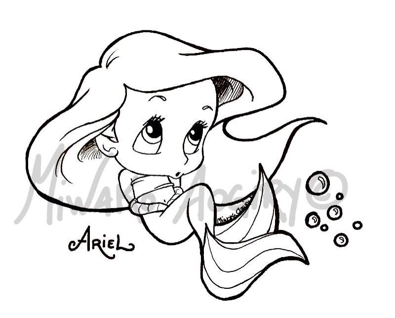 Disney Disney Coloring Mermaid Coloring Pages Cute