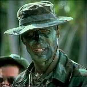 Finally, a good Hollywood depiction of face paint camouflage!