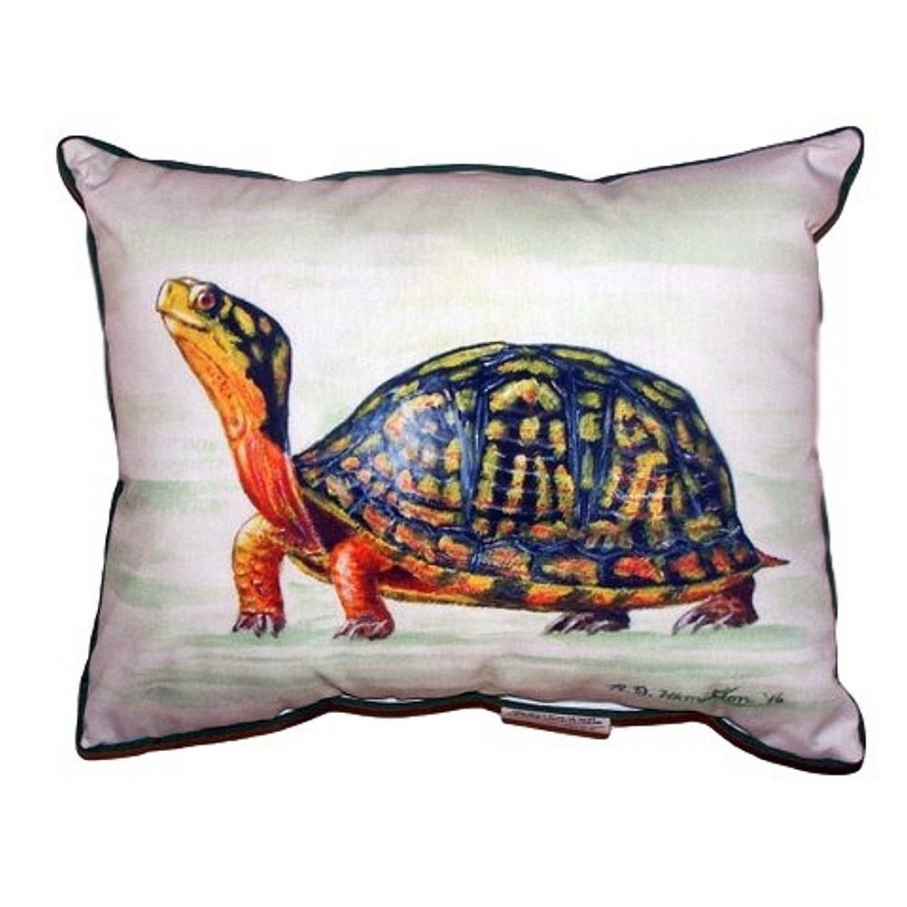 Betsy drake happy turtle large indoor outdoor throw pillow size