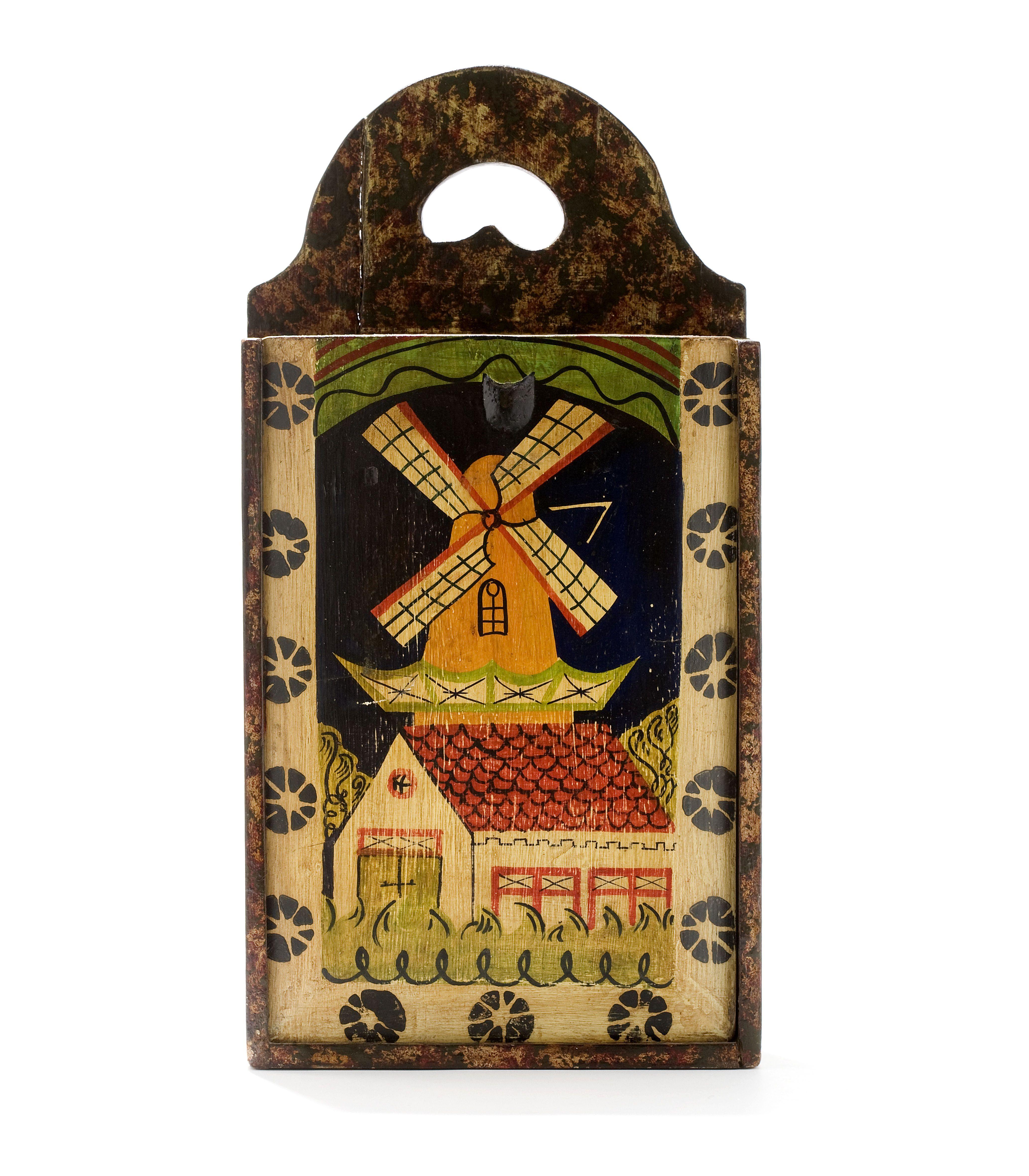 Wooden Schoolbag Netherlands 19th Century