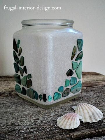 upcycled candle jars as stylish home decor my decor creations candle jars empty candle jars. Black Bedroom Furniture Sets. Home Design Ideas