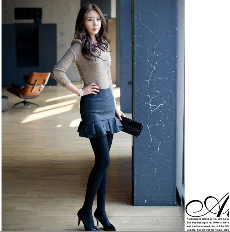 Осень зима юбки женщины шерстяная ткань короткая юбка завышенная талия…