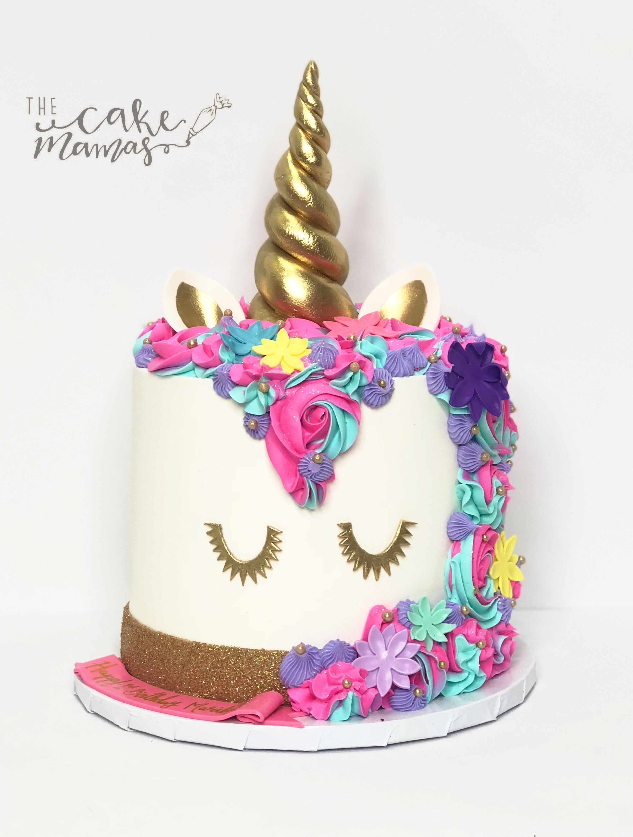 Pastel Blue Pink Purple And Yellow Unicorn Cake Call Or