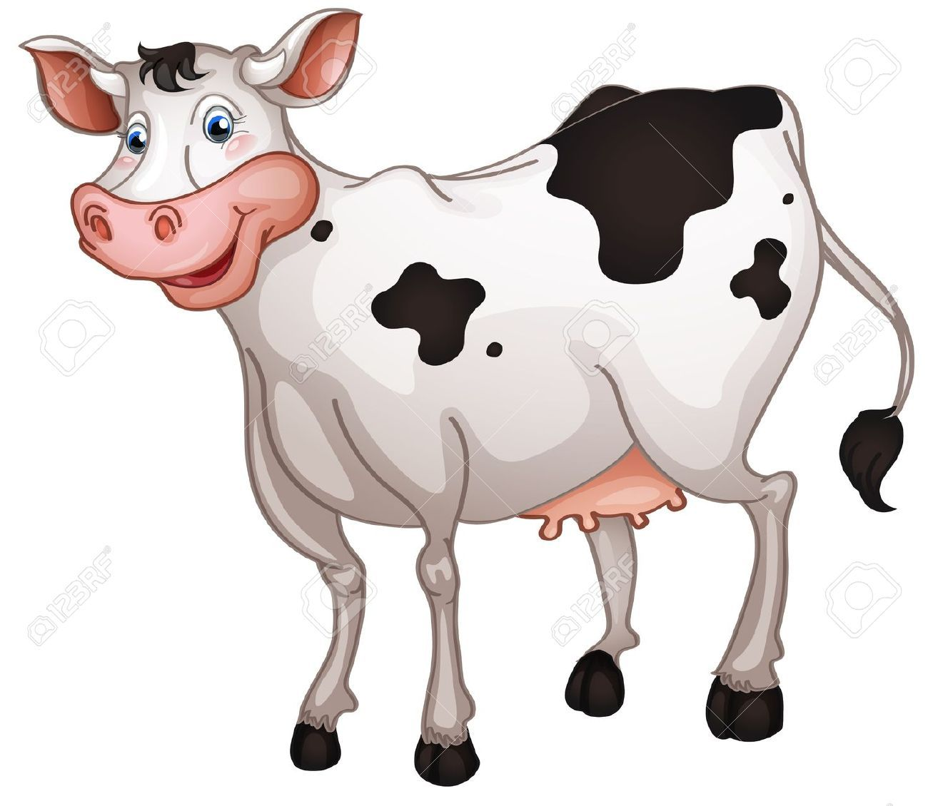 Cow easy. Clipart clip art drawing