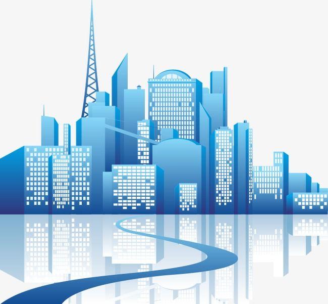 Cartoon City Building Buildings, Cartoon Vector, City ...