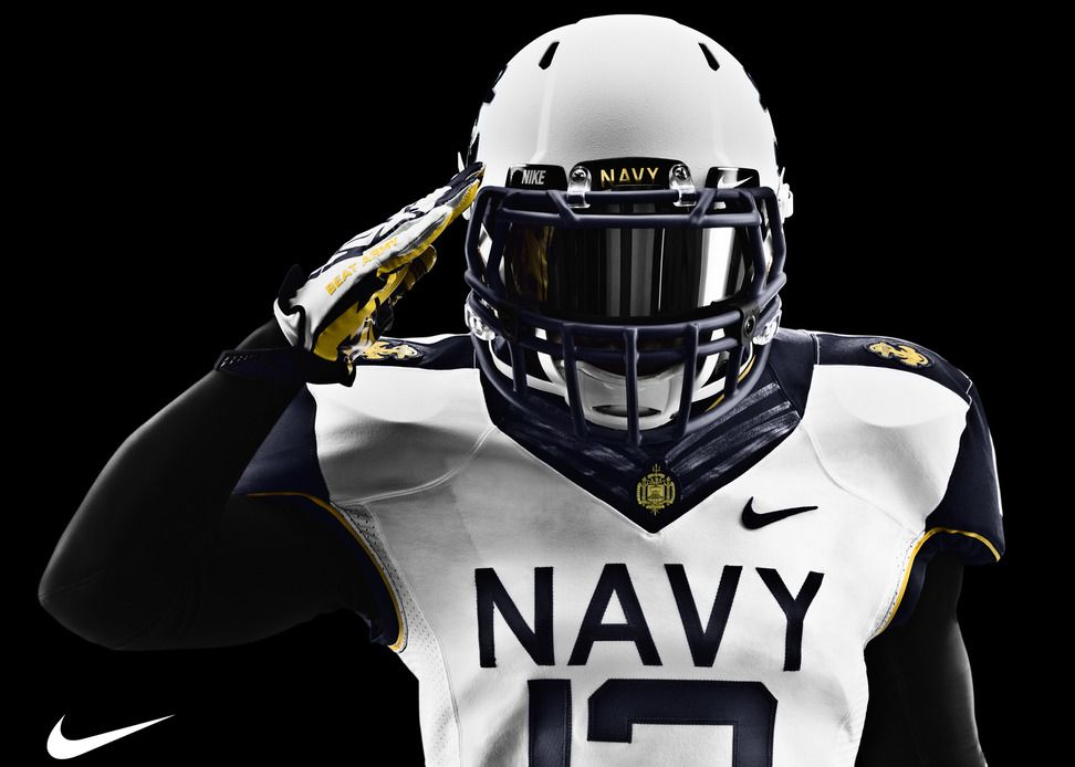 8bf70a694916 Navy Midshipmen uniforms for 2012 Army-Navy Game via Nike. This might be my  favorite football uniform ever.