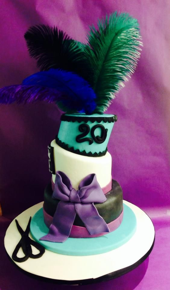 Birthday Cake For The 20 Years Of A Salon Oh So Chic Girls