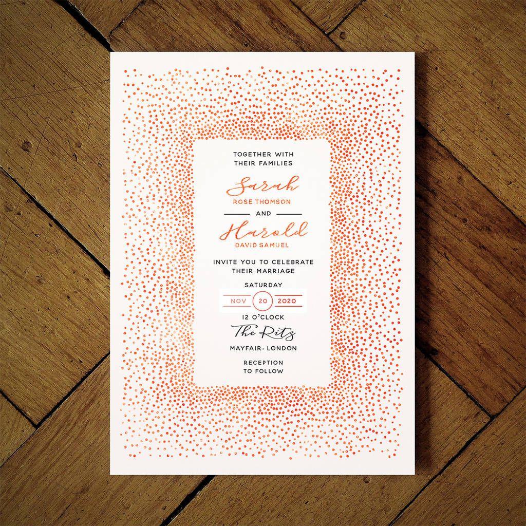 Mimosa Foil Wedding Invitation Foil wedding invitations