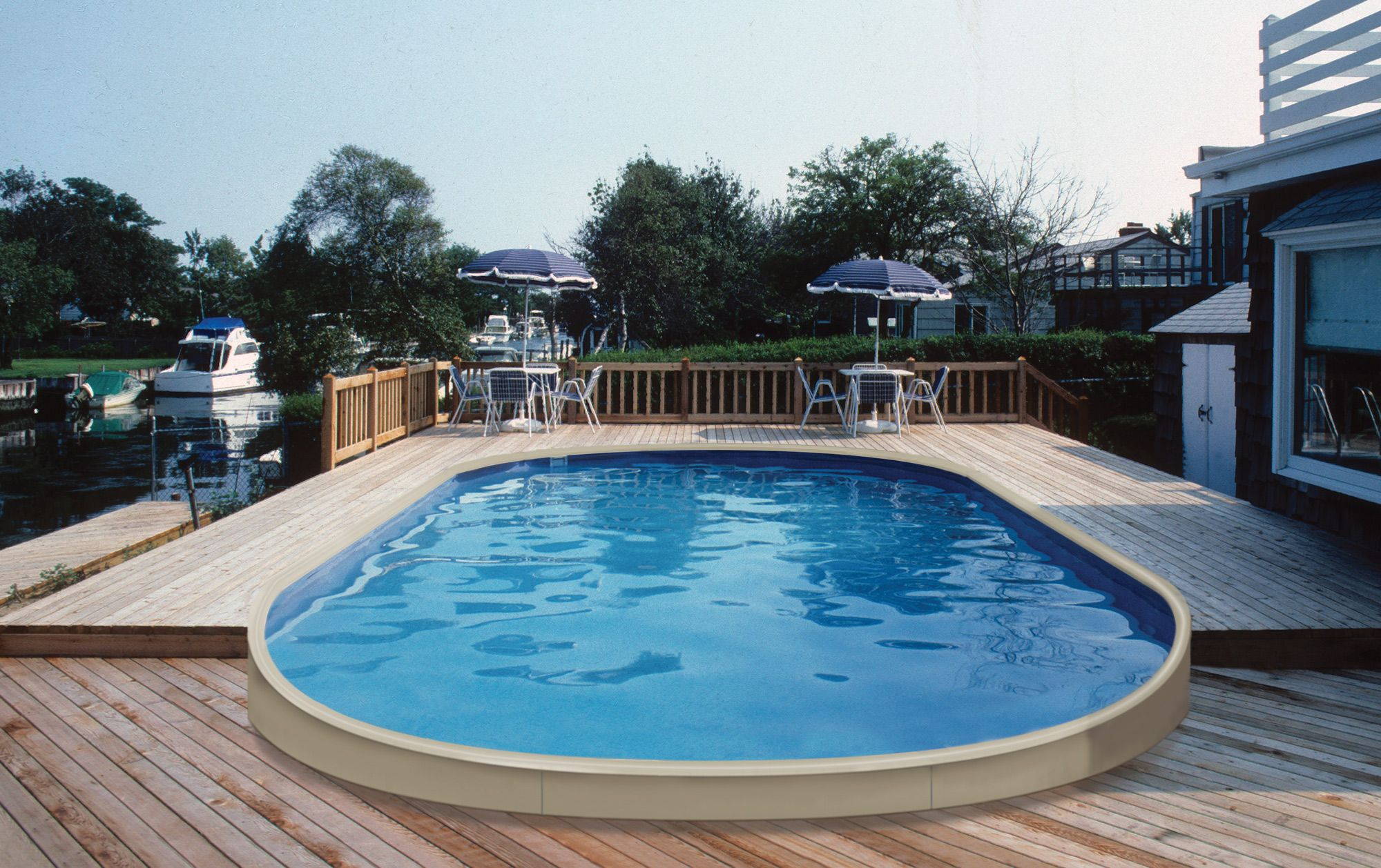 Buy and Oval Shaped Custom Above Ground Pool Online | Home ...