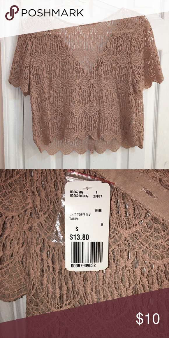Forever21 Knit Top Taupe Size Small Knit Topsslv New With Tags
