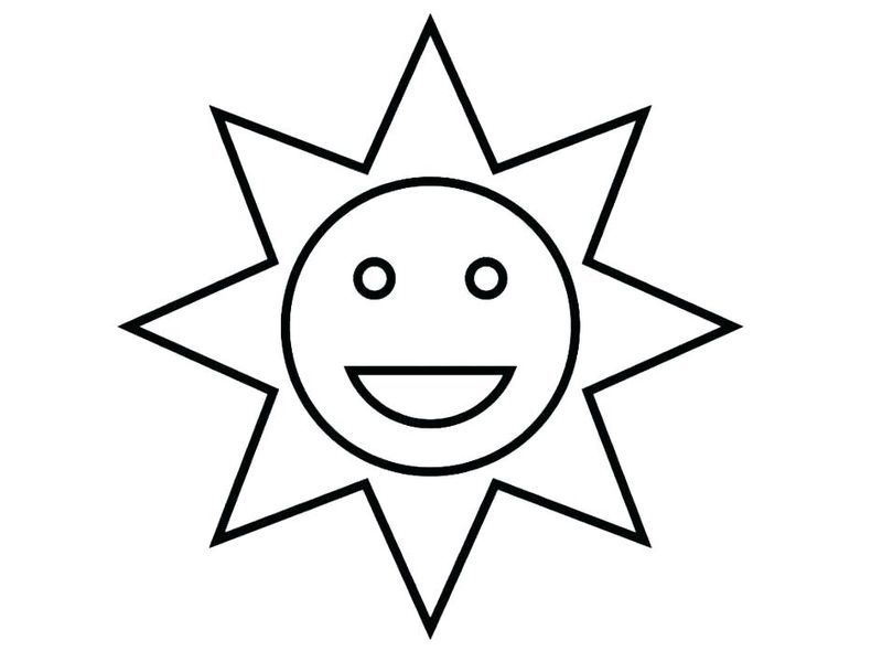 Sun Coloring Page Pdf In 2020 Sun Coloring Pages Easy Coloring Pages Star Coloring Pages